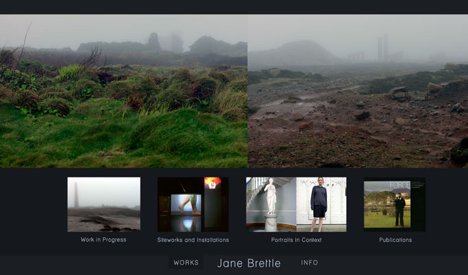 Portfolio website for artist Jane Brettle